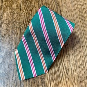 Brooks Brothers Green & Red Striped Tie
